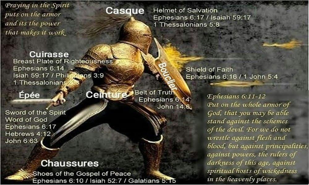 Les armes de combat que Dieu nous donne pour lutter contre le diable !
